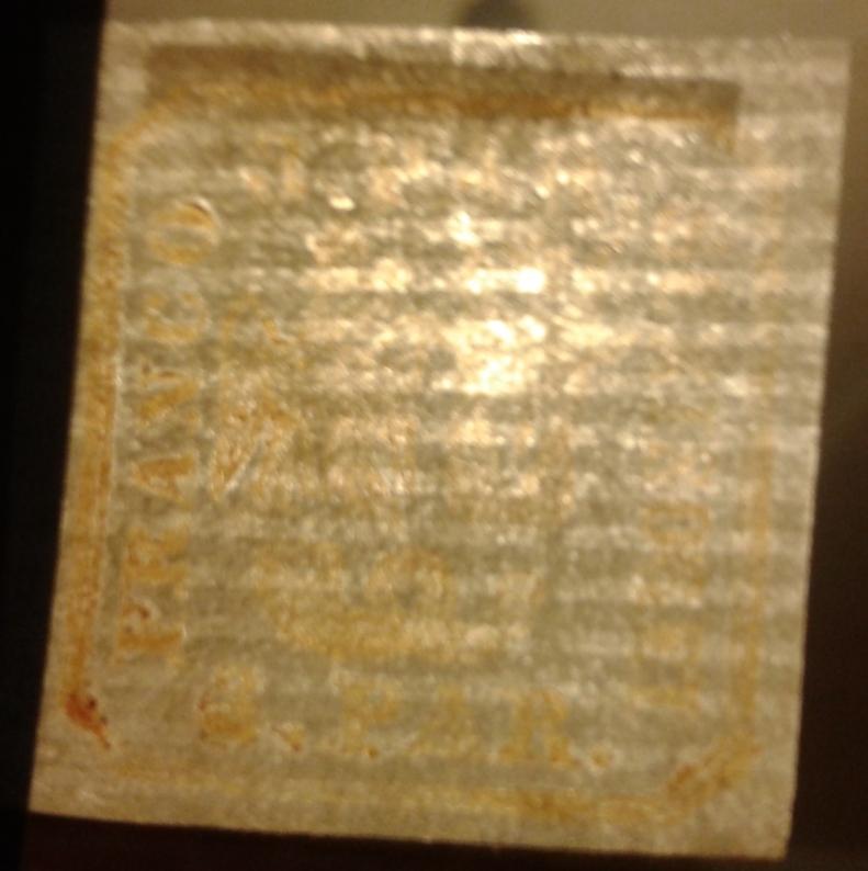 1862 Principatele unite tipar de mana 3 parale nou, varietate PRANCO, hartie vargata, guma originala urma sarniera verso