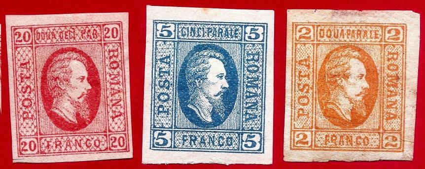 1865 Domnitorul Cuza serie 3v. neuzate, guma originală, toate marginile bine aspectate LP 15-17, Mi 11-13, Yt 11-13 Sc 22-24