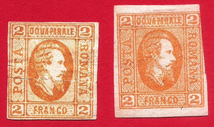 1865 Principele Cuza 2 par LP 15e, Mi 11, Yt 11 Sc 22 inclus BISTRU