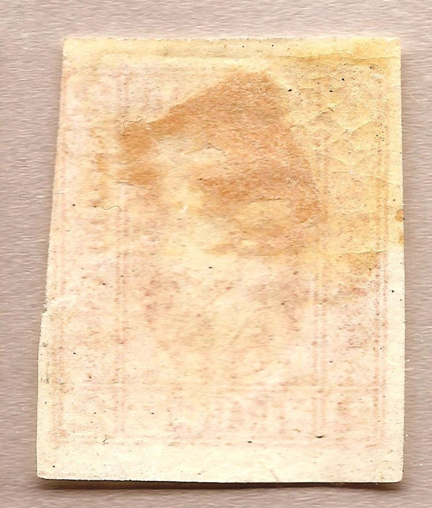 1865 Principele Cuza 2 par LP 15e, Mi 11, Yt 11 Sc 22 verso