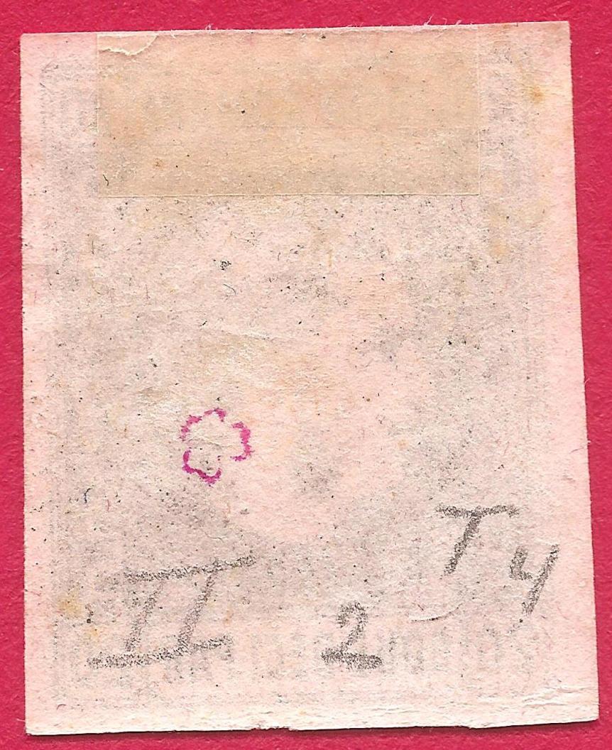 1867 CAROL I cu favoriti 20 par pe hartie roz verso