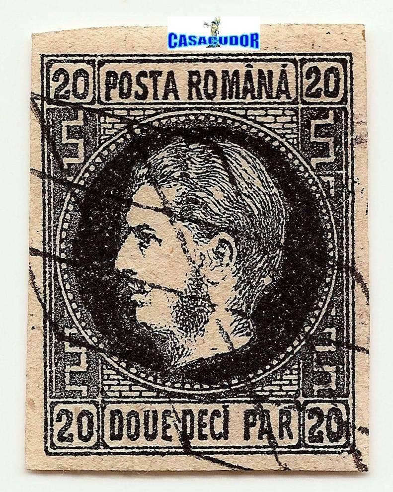 1867 CAROL I cu favoriti 20 par retus in medalion