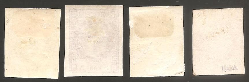 1868 1870 CAROL I FAVORITI BANI MH NOI serie completa 4v. LP 21-24 Mi= 450 EUR YV 400 EURverso