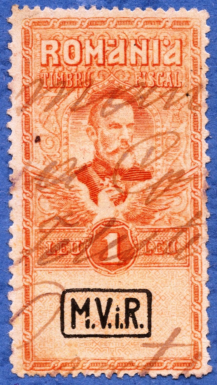 1917 supratipar MVIR pe 1 LEU FISCAL