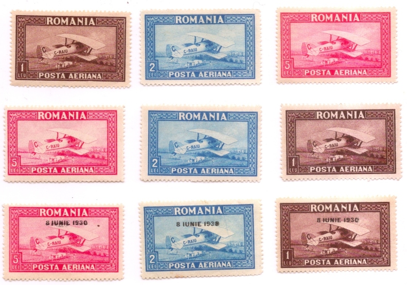 1928 - 1930 posta aeriana C. RAIU