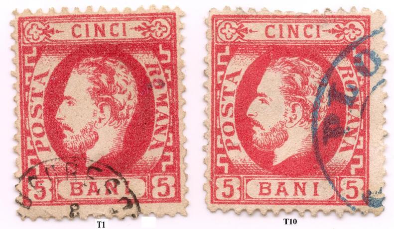 1872 CAROL I cu barba dantelat 5 bani LP 35 X2 Mi 32a 60 eur Sc 50=53 usd Yt 33= 40 eur