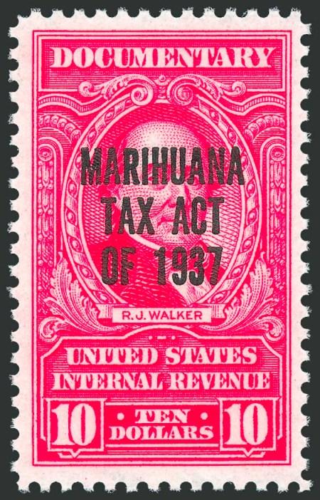 marihuana tax stamp 10$