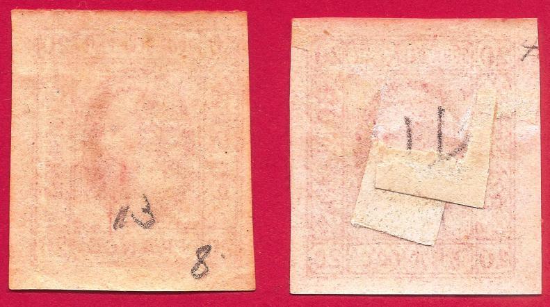 1865 CUZA 20 PAR TIP I+II , I pe hartie galbuie MNH si MH Mi 13 Yt 13 Sc 24 VERSO.jpg