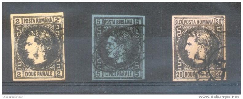 1866 CAROL I SERIE 3V. FALSURI