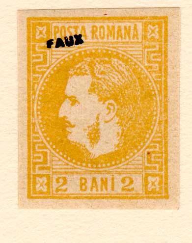 1868 2 BANI CAROL I FALS Fournier faux