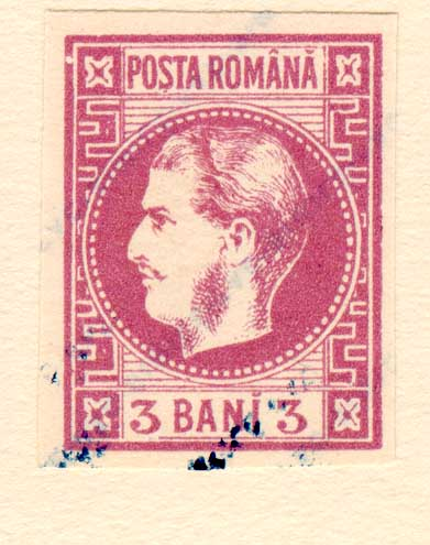 1868 3 BANI CAROL I FALS fata tanara Fournier